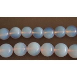 Συνθετικη Φεγγαροπετρα Μπλε Στρογγυλες Χαντρες