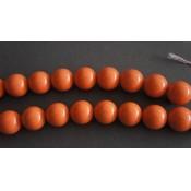 Ρητινη Πορτοκαλι Στρογγυλες Χαντρες